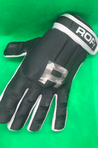 Rofy Hockey protectiehandschoen Black Camo Grey full finger