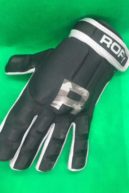 Rofy Hockey protectiehandschoen Black Camo Grey full finger