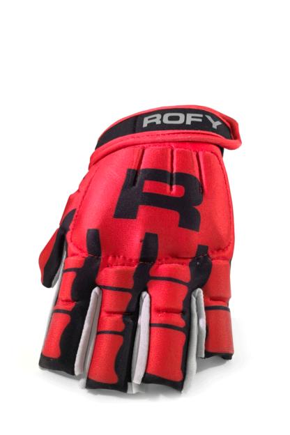 Rofy Hockey protectiehandschoen rood skull